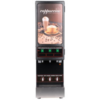 Cecilware 3K-GB-NL Cappuccino Dispenser with Three Hoppers and Sign - 120V