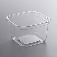 Fabri-Kal SQ16 TruWare 16 oz. Square Recycled PET Deli Container - 75/Pack