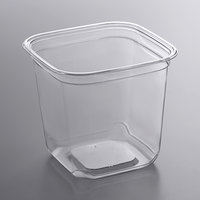 Fabri-Kal SQ24 TruWare 24 oz. Square Recycled PET Deli Container - 60/Pack