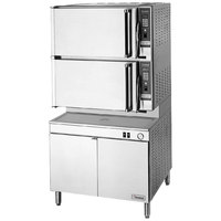 Cleveland 36-PCGM-300 SteamPro XVI Natural Gas 16 Pan Pressure / Convection Steamer with Boiler Base - 300,000 BTU