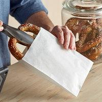 Choice 6 inch x 1 inch x 8 inch White Sandwich / Cookie Bag - 100/Pack