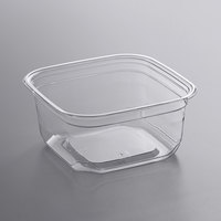 Fabri-Kal SQ12 TruWare 12 oz. Square Recycled PET Deli Container - 75/Pack