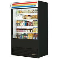 True TAC-48-LD Black Vertical Air Curtain Refrigerator