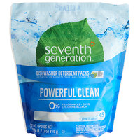 Seventh Generation 22897 Free & Clear 45-Count Dishwasher Detergent Packs - 8/Case