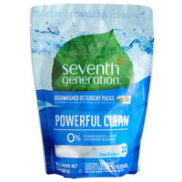 Seventh Generation 22818 Free & Clear 20-Count Dishwasher Detergent Packs - 12/Case