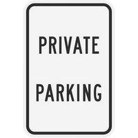 Lavex Industrial Private Parking Black Aluminum Composite Sign - 12 inch x 18 inch