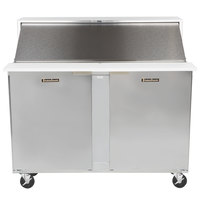 Traulsen UPT4818-LR 48 inch 1 Left Hinged 1 Right Hinged Door Refrigerated Sandwich Prep Table