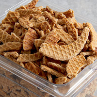 Lancaster Stroopies Company Cinnamon Stroopwafel Wafer Cookie Pieces Topping - 5 lb.