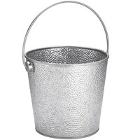 Tablecraft GT87 Galvanized Steel Beverage Pail - 8 inch x 7 inch