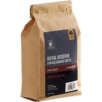 Crown Beverages 2 lb. Royal Reserve Dark Roast Coarse Ground Coffee   - 5/Case