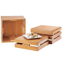 Cal-Mil 1944-12-60 Bamboo Square Crate Riser - 12 inch x 12 inch x 12 inch