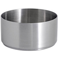 Front of the House DSD073BSS23 Soho 6 oz. Brushed Stainless Steel Round Ramekin - 12/Case