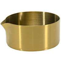 Front of the House TCR014GOS23 Soho 5 oz. Matte Brass Brushed Stainless Steel Round Creamer - 12/Case