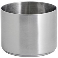 Front of the House DSD072BSS23 Soho 9 oz. Brushed Stainless Steel Round Ramekin - 12/Case