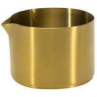 Front of the House TCR015GOS23 Soho 8 oz. Matte Brass Brushed Stainless Steel Round Creamer - 12/Case