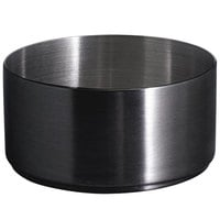 Front of the House DSD073BKS23 Soho 6 oz. Matte Black Brushed Stainless Steel Round Ramekin - 12/Case