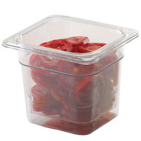 Cambro 65CLRCW135 Camwear 1/6 Size 5 inch Deep Clear Polycarbonate Colander Pan