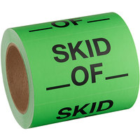Lavex Industrial 3 inch x 5 inch Skid _ Of _  Matte Paper Permanent Label - 500/Roll