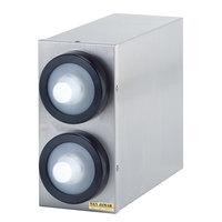 San Jamar C9002 Stainless Steel 2-Slot 0.5 - 2.5 oz. Portion Cup Dispenser Cabinet