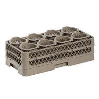 Vollrath HR1370 Traex® 19 3/4 inch x 10 inch x 9 1/16 inch Half-Size Beige 8 Cylinder Flatware Rack