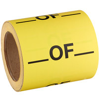 Lavex Industrial 3 inch x 5 inch _ Of _ Matte Paper Permanent Label - 500/Roll