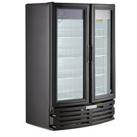 Beverage-Air MT21-1B Marketeer 40 1/8 inch Black Refrigerated Glass Door Merchandiser with LED Lighting