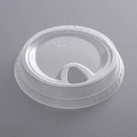 Choice 9, 12, 16, 20, and 24 oz. Clear Sip-Through Lid with Extra-Wide Opening   - 1000/Case