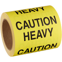 Lavex Industrial 3 inch x 5 inch Caution Heavy Matte Paper Permanent Label - 500/Roll