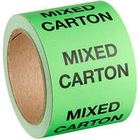 Lavex Industrial 2 inch x 3 inch Mixed Carton Matte Paper Permanent Label - 500/Roll