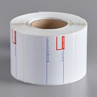 Choice 2 5/16 inch x 2 3/8 inch White Pre-Printed Permanent Direct Thermal Label   - 500/Roll