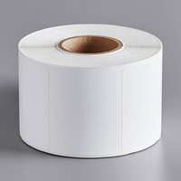 Choice 2 3/8 inch x 1 3/4 inch White Blank Permanent Direct Thermal Label - 835/Roll