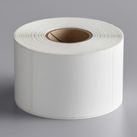 Choice 2 3/8 inch x 3 1/8 inch White Blank Permanent Direct Thermal Label   - 545/Roll