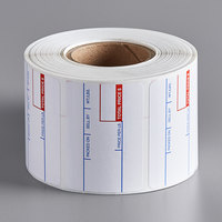 Choice 2 5/16 inch x 1 5/8 inch White Pre-Printed Permanent Direct Thermal Label   - 700/Roll
