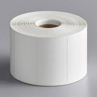 Cardinal Detecto 7100-0026 White Blank Equivalent Permanent Direct Thermal Label - 1135/Roll