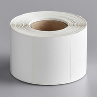 Choice 2 5/16 inch x 1 5/8 inch White Blank Permanent Direct Thermal Label - 700/Roll