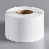 Choice 2 3/8 inch x 1 3/16 inch White Blank Permanent Direct Thermal Label - 1200/Roll