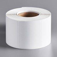Choice 2 3/16 inch x 1 5/8 inch White Blank Permanent Direct Thermal Label - 750/Roll
