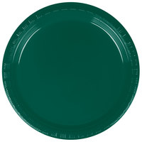 Creative Converting 28312411 7 inch Hunter Green Plastic Plate - 240/Case