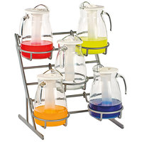 Oneida 3830KIT Modu Grande System with Stainless Steel Rack and (5) 96 oz. Glass Pitchers