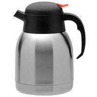 Oneida J0010521A Grand Cafe 51 oz. 18/10 Stainless Steel Insulated Thermal Server with Push Button