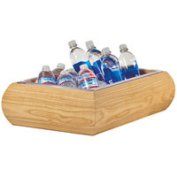 Oneida BTW2012 20 inch x 12 inch Beech Wood Beverage Housing with Insert Pan