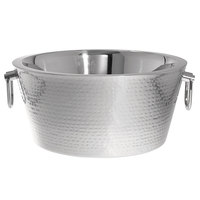 Oneida J0855001A Staccato Stainless Steel Hammered Beverage Tub
