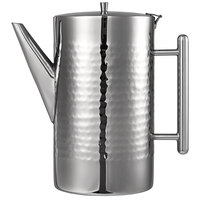 Oneida J0852200A Staccato 68 oz. 18/10 Stainless Steel Long Spout Stainless Steel Coffee Pot