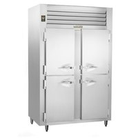 Traulsen RLT232DUT-HHS Stainless Steel 42 Cu. Ft. Two-Section Solid Half Door Narrow Reach-In Freezer - Specification Line