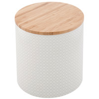 Tablecraft 700015 Crofthouse Collection 56 oz. Medium Melamine Canister with Bamboo Lid