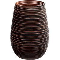 Stolzle S3525412T Twister 16.5 oz. Black/Bronze Stemless Wine Glass / Tumbler - 24/Case