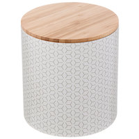 Tablecraft 700016 Crofthouse Collection 88 oz. Large Melamine Canister with Bamboo Lid