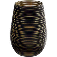 Stolzle S3525112T Twister 16.5 oz. Black/Gold Stemless Wine Glass / Tumbler - 24/Case