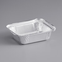 Choice 1 lb. Oblong Foil Take-Out Container   - 1000/Case