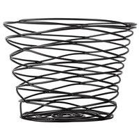 American Metalcraft FRUB9 Black Birdnest Basket - 7 inch x 5 inch
